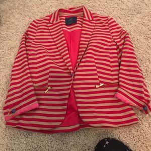 Pink and tan blazer